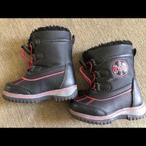 Totes Baby Toddler Kids Rain Winter Boots Sz 6 EUC